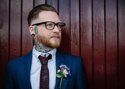 alternative groom southbank wedding photography