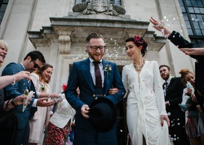 islington town hall wedding confetti