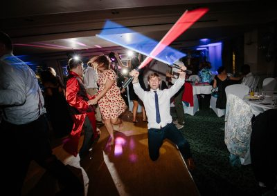 brandshatch place wedding with lightsabers