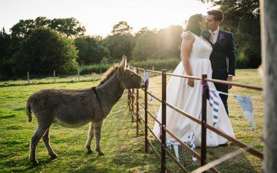 Georgie & Henry's stylish marquee wedding