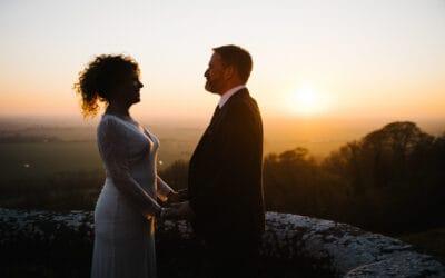 Debbie & Andrew's autumn Lympne Castle wedding